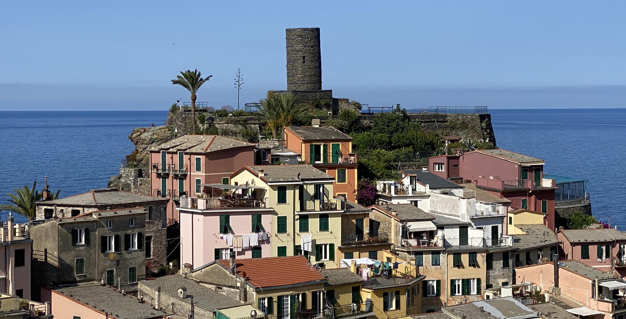 Vista del Castello di Vernazza