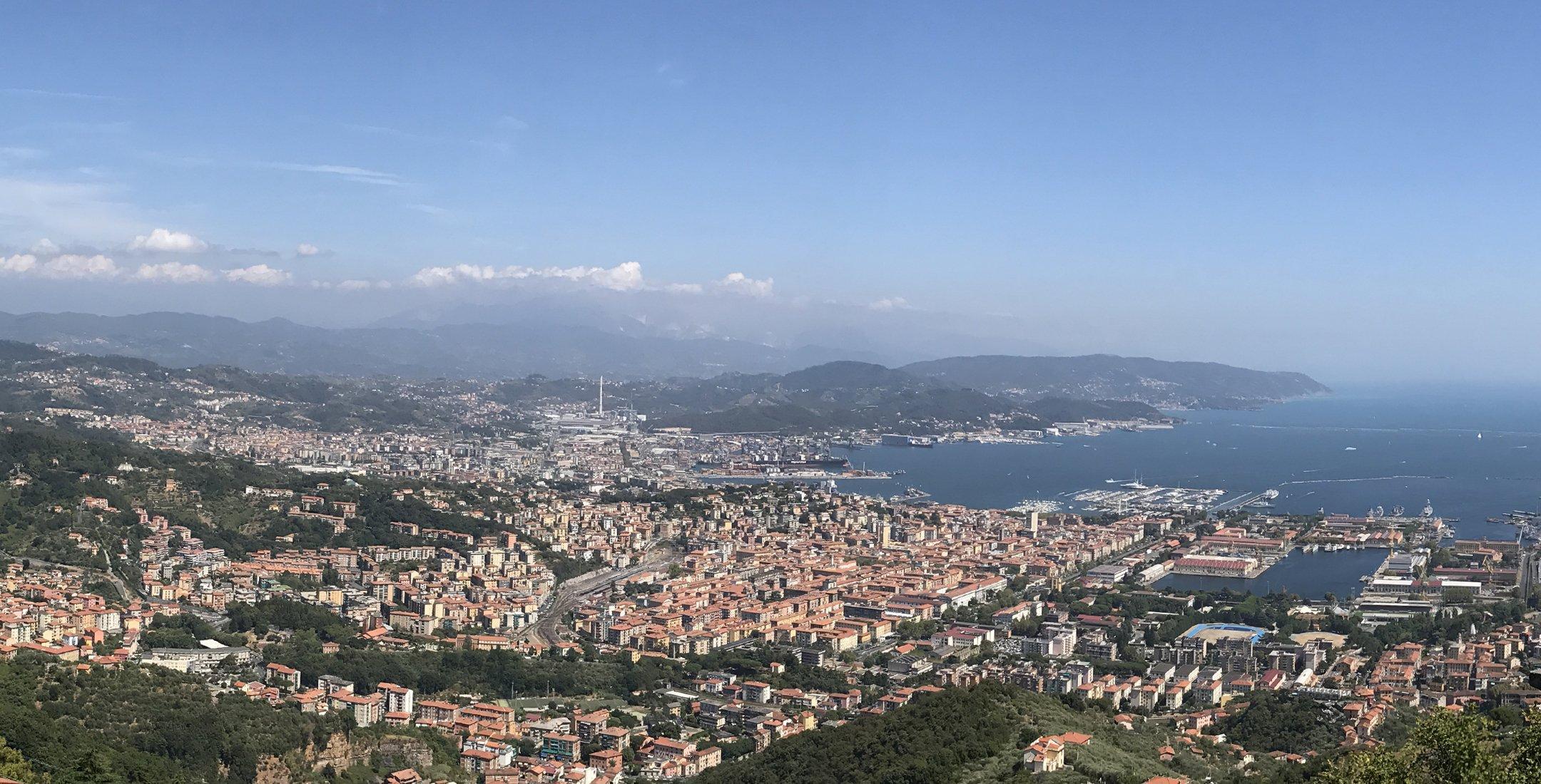 Panoramica della città di La Spezia