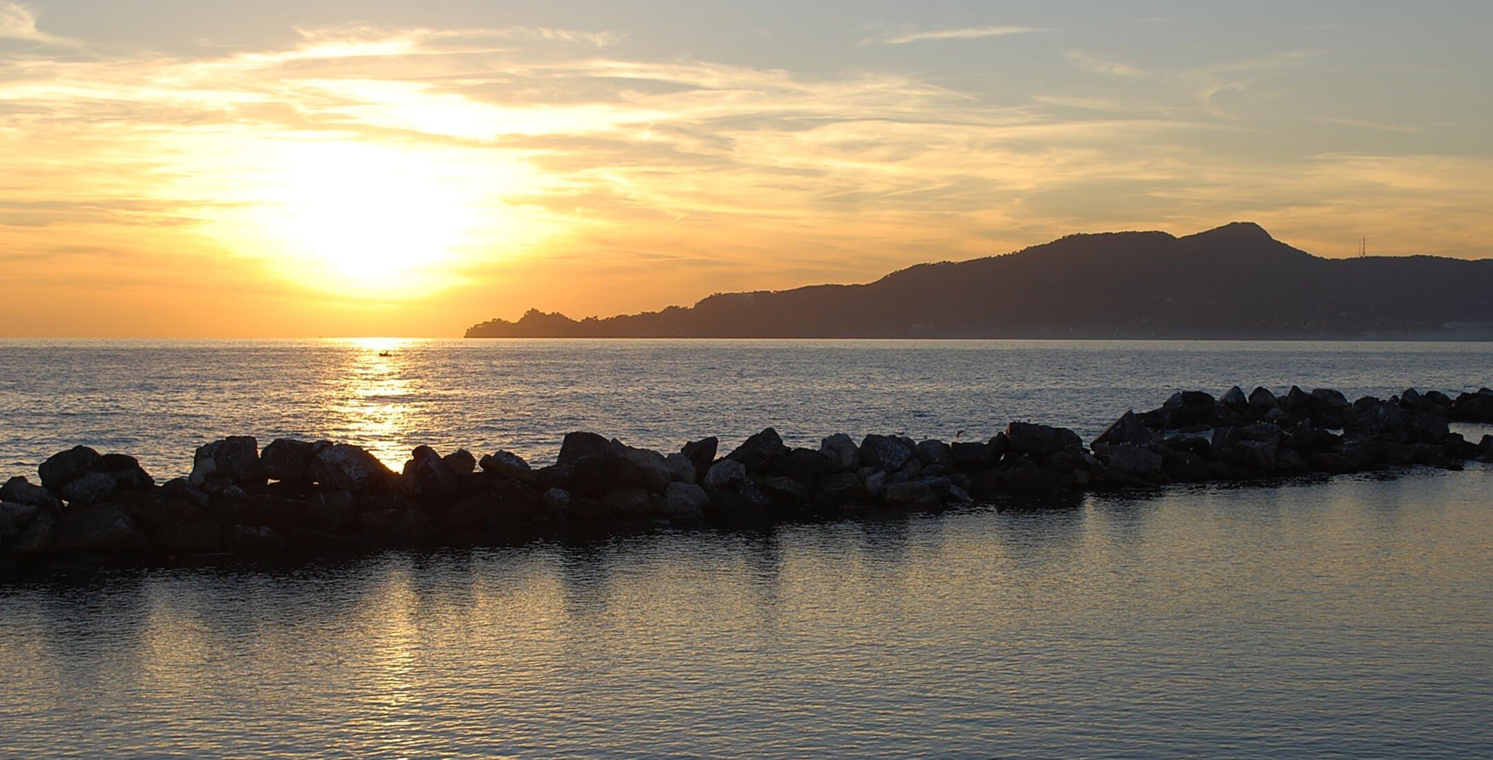 Tramonto sul Golfo del Tigullio (Chiavari)